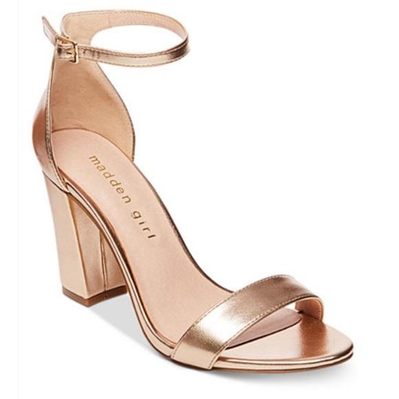 Madden Girl Rose Gold Block Heels